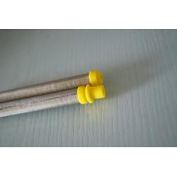 Paquete de válvulas inyectoras 9,5 mm beige (100 uds.)