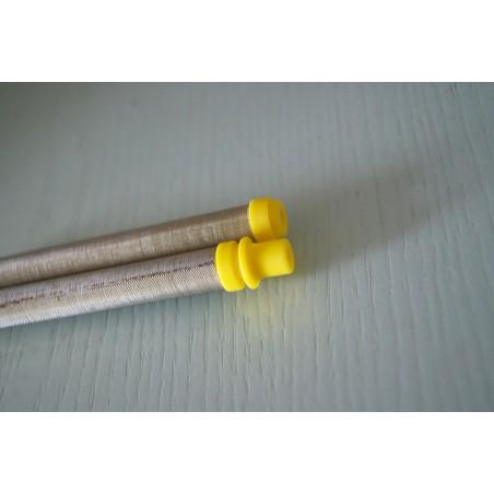 Paquete de 1.000 válvulas de inxección 9,5 mm beixe